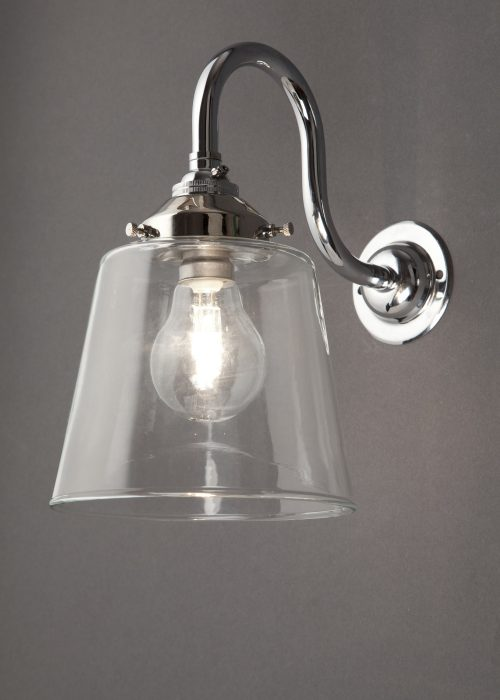 Industrial glass wall light - tapered