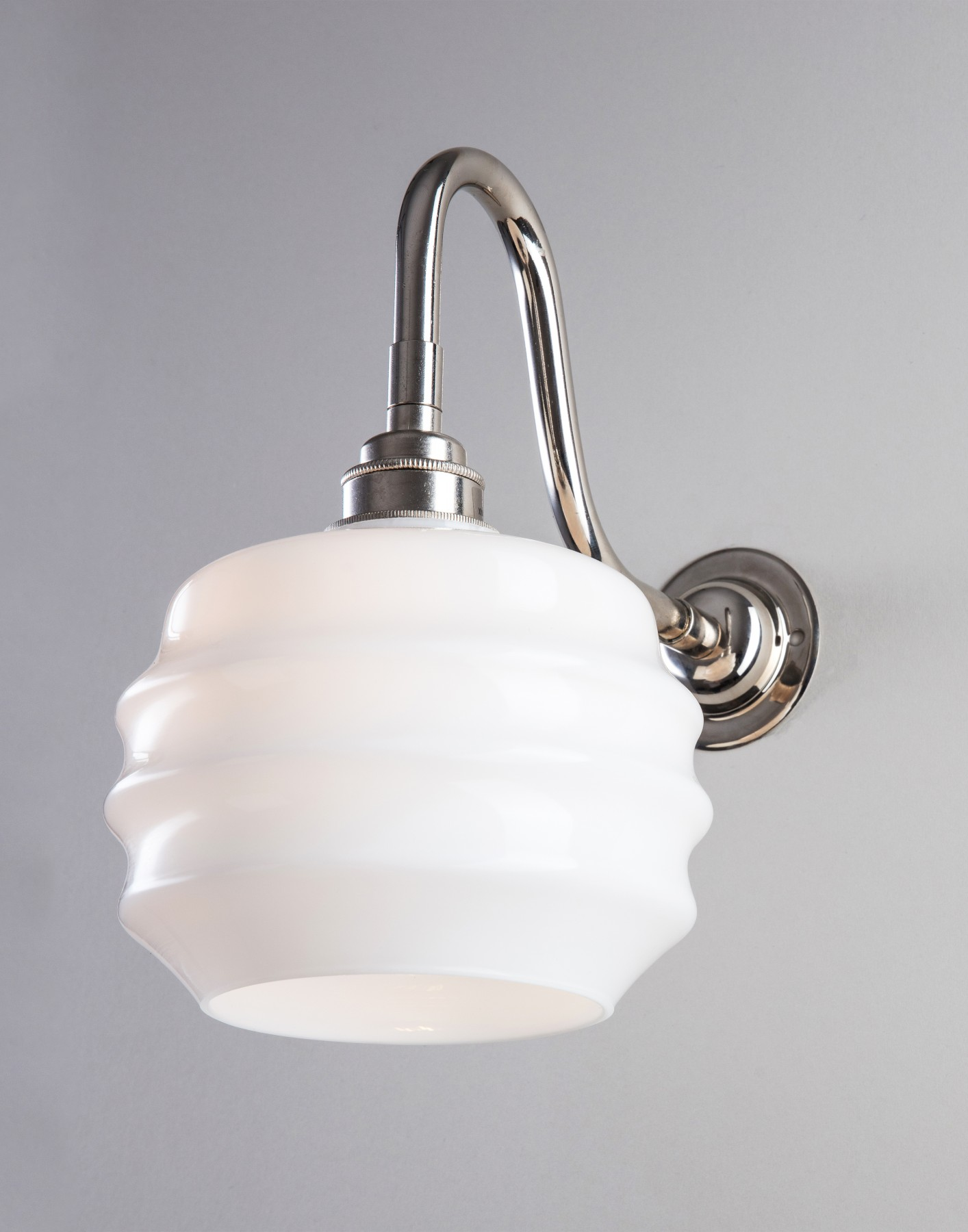 Industrial Opal Glass Wall Light Deco Old School Electric