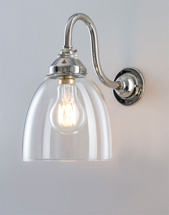 bathroom light wall fixtures swan arm glass wall light school electric 16114